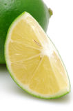 Cutted lime Stock Photography