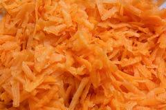 Cutted morötter - matingrediens - grönsaker royaltyfria foton