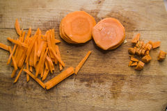 Cutted Natural carrots Stock Image