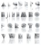 Cutted och vikt alfabet för metall Royaltyfri Foto