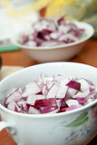 Cutted onions Stock Photos
