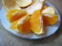 Cutted Orange Stockbilder