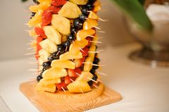 Cutted owoc ustawia ustawionego w pionowo postaci Obraz Royalty Free