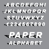 Cutted paper alphabet letters Stock Photography