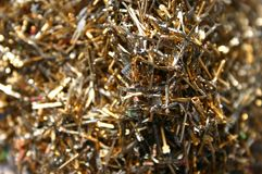 Cutted pins from printed circuit boards Royalty Free Stock Image