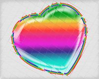 Cutted rainbow heart Royalty Free Stock Photography