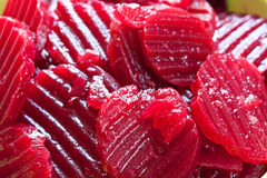 Cutted red beet Stock Photography