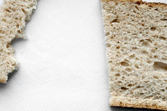 Cutted and ripped bread background Stock Image