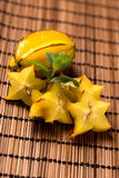 Cutted starfruit or carambola. Healthy dessert Stock Photography