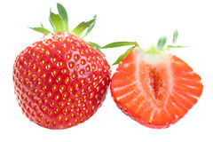 Cutted strawberry Royalty Free Stock Photo