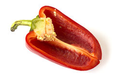 Cutted sweet red pepper isolated Royalty Free Stock Images