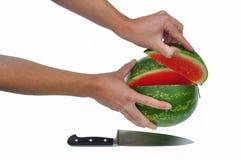 cutted vattenmelon Arkivbild