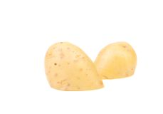 Cutted white potato Royalty Free Stock Image