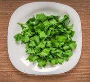 Cutted wild garlic Stock Image