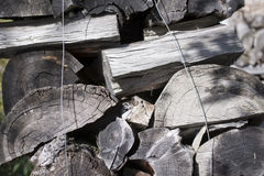 Cutted wood for winter Royalty Free Stock Images