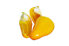 Cutted yellow pepper Royalty Free Stock Photos