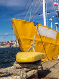 Cutter berthed to the bollar Royalty Free Stock Images