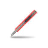 Cutter blade isolated for school or office tools on white background Stock Image