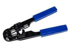 Cutter and crimping tool Royalty Free Stock Photos