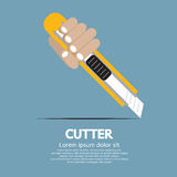 Cutter paper knife. Hand Holding A Cutter Knife Vector Illustration EPS10 Stock Photos