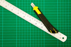 Cutter and Ruler Stock Image