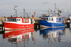 Cutter in Sassnitz harbor Royalty Free Stock Photos