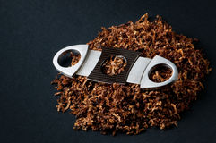 Cutter and tobacco royalty free stock photography