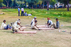 Cutter work in the Red Fort Royalty Free Stock Images