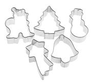 Cutters for sugarcraft with winter shapes Royalty Free Stock Photo