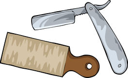 Cutthroat razor. On a white background vector Royalty Free Stock Photo