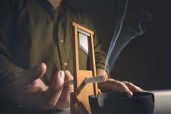 Cutting Addiction Royalty Free Stock Image