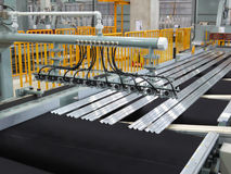 Cutting aluminum lines. Stock Image