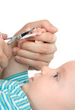 Cutting Baby`S Nails Royalty Free Stock Photography