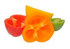 Cutting bell peppers Stock Image