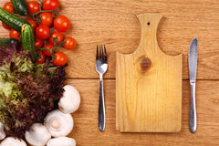 Cutting board background Stock Images
