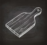 Cutting board chalk sketch Royalty Free Stock Photo