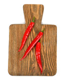 Cutting board and chili Royalty Free Stock Image