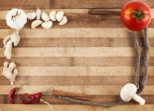 Cutting board frame Royalty Free Stock Images