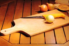 Cutting board. This is a handmade cutting board Stock Photography