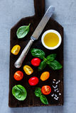 Cutting board and ingredients Stock Photos