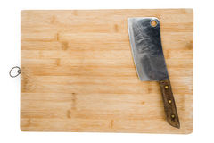 Cutting Board and Kitchen Knife Royalty Free Stock Photo