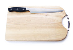 Cutting board with a knife Royalty Free Stock Images