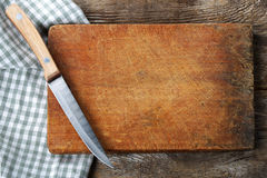 Cutting board with a knife Royalty Free Stock Photo