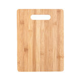Cutting board made of bamboo isolated on white Stock Image