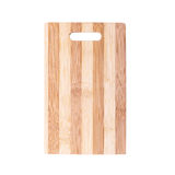 Cutting board made of striped bamboo planks Royalty Free Stock Photos