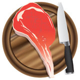 Cutting board with meat Royalty Free Stock Images