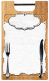Cutting Board Menu Design Stock Images
