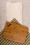 Cutting board on a napkin Stock Photo