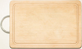 Cutting board. Old used kitchen wooden cutting board with scratch marks Royalty Free Stock Images