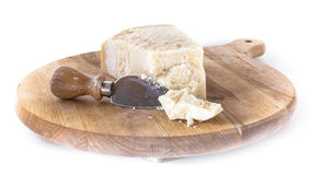 Cutting board with Parmesan Royalty Free Stock Photos